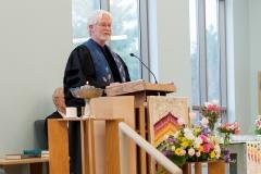 Rev. Jamie McReynolds giving a prayer
